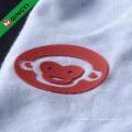 Emboss silicone de alta qualidade de ferro personalizado de QingYi na etiqueta da roupa