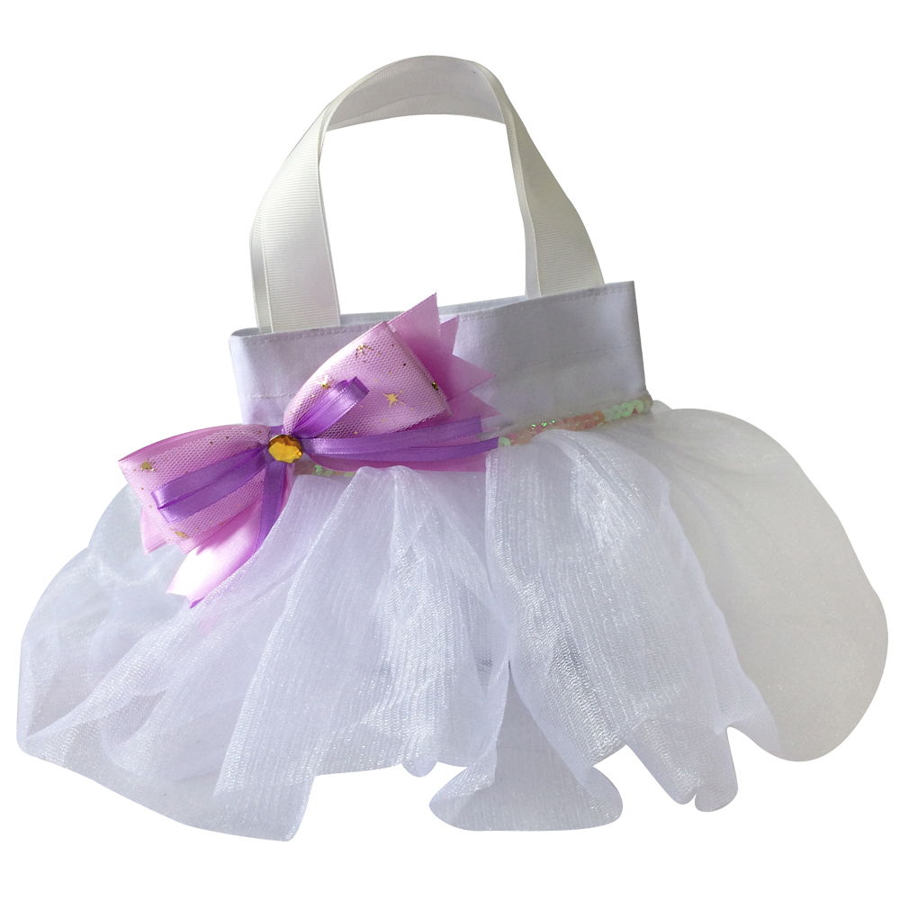 Purple Gift Bag With Skirt Shape