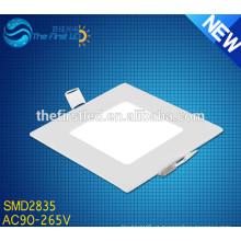 AC90-265V SMD 2835 quadrado led teto iluminação do painel branco quente / branco / cool branco