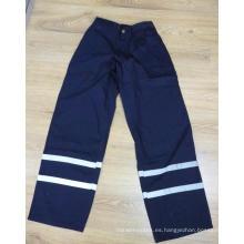 Pantalones reflectantes azul marino con cinta 3mxq25