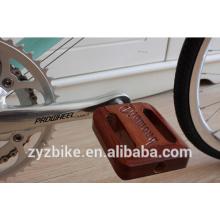 Pédales de vélo classiques Lignum vitae pédale de vélo rétro pour pédalier à engrenage fixe crank brothers