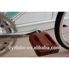 Classic bike pedals lignum vitae retro bicycle pedal for fixed gear bike pedal crank brothers