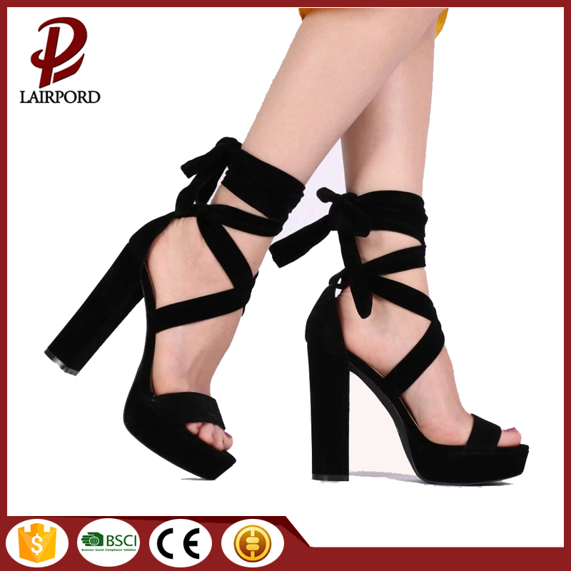 faux suede strappy lace up ladies sandals
