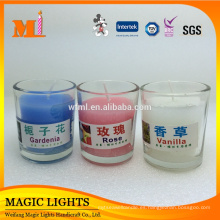 Velas perfumadas de cristal claras al por mayor pequeñas para el hogar