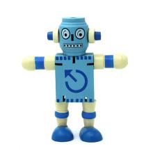 robot de juguete de madera para niños