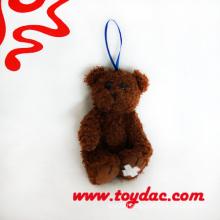 Plush Chocolate Bear Key Ring Toy