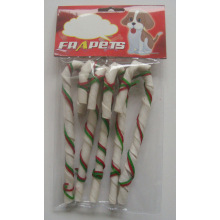 "Dog Products White Twist Candy Cane 6"" Dog Chew"