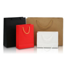Promotional Blank Paper Bag, White Card Portable Clothing Brown Paper Gift Bag