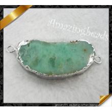 Joyería de piedra, encantos de Connetor de plata, joyas de piedra de Neckalce (yad007)