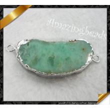 Stone Jewelry, Silver Connetor Charms, Stone Neckalce Jewelry (YAD007)