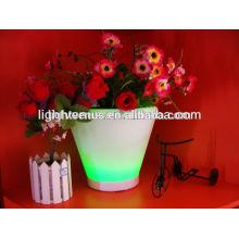освещенный открытый цветочные горшки/цветочные горшки для гостиная/LED пластиковые плантатор