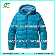 soft shell blue first women duck down jackets