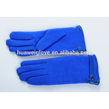 Fashion ladies jewelry blue wool gloves