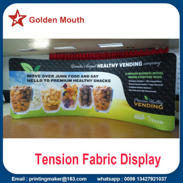 Gebogene Top Tension Stoff Banner Stand