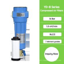 Filtres à charbon actif pour air comprimé YD-B030