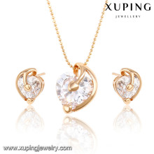 63944 Xuping Imitation Jewelry fashion charming gold plated sets
