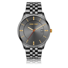top brands back stainless steel water resistant quartz watch