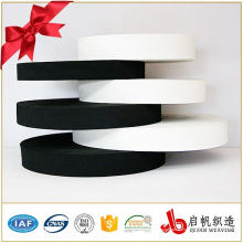 Banda elástica hecha punto gruesa del poliéster del alto estiramiento de encargo de la fábrica