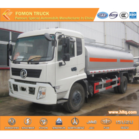 Dongfeng 15000L aluminium oil tank truck 190HP for Sale
