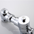 Pedal control brass squat pan flush valve