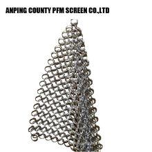 Ss Wire vente chaude soudée en acier inoxydable 304 Chainmail Scrubber