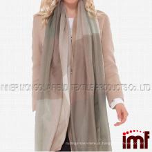Mulheres Primavera Cashmere Tartan Plaid Longo Moda Cachecóis e Wraps
