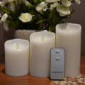 set of 3 battery operated flameless candles with moving wick