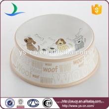Atacado de cerâmica promocional tipos diferentes bonitos de cachorro decalque cão tigela