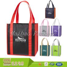 Bolso de compras no tejido promocional de la tela del polipropileno del logotipo de encargo barato del precio pequeño de la fábrica