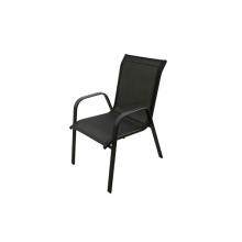 Outdoor black sling furniture-sling dining/leisure chair