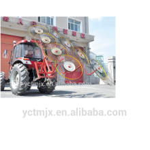 2017 New design rotary finger wheel lawn mower hay rake/hayrakes for sales