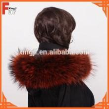 Chinese Raccoon Fur Jacket Fur Collar