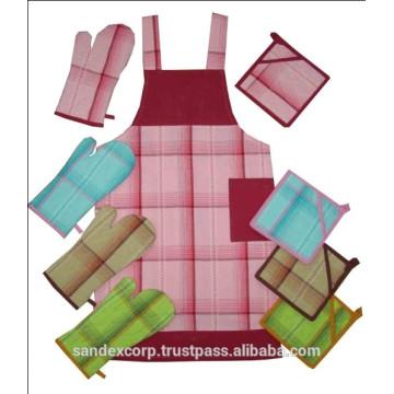 Conjunto de delantal de algodón lujoso