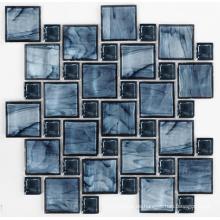 Mosaico azul del cristal de la mezcla