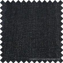 Tissu brossé en denim en coton à rayons en coton noir
