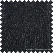 Black Cotton Rayon Polyester Spandex Denim Brushed Fabric