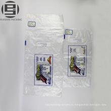 Таможня напечатала мешки упаковки еды хлеба