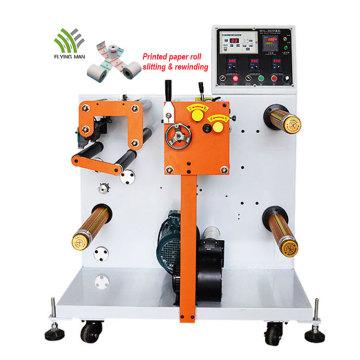 Machine de rembobinage de refendage de papier thermique
