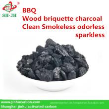 Rauchfreie länger brennende Holzkohle für BBQ Malaysia