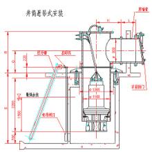 Well Drum Axial-Flow Pump com Tubo de Parede e Flap Flutuante