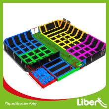 rectangular indoor trampoline park