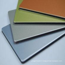 Panneaux composites en aluminium de couleur mate