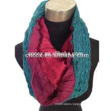 PK17ST307fashion acrylic jacquard Loop schal knitted neck scarf fashion scarf