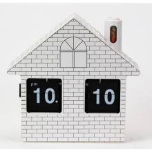 Small House Flip Clock Reloj de escritorio
