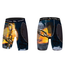Pantalones cortos con Groin Cup Boxing Training Equipment