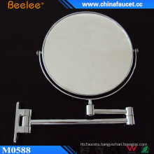 Chrome Brass 8′′ Bathroom Cosmetic Mirror with 3X Magnifying