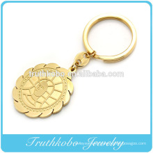 gold plated fashion top quality custom rubber keychains with father Jesus pendant online