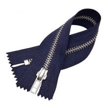 No.8 Dark Blue Metal Zipper with Closed End