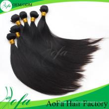 Extensão reta não processada do cabelo humano de Remy do cabelo do Virgin da qualidade superior