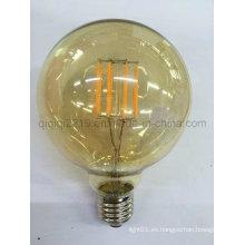 Bombilla de filamento de 5W G95 COB color dorado